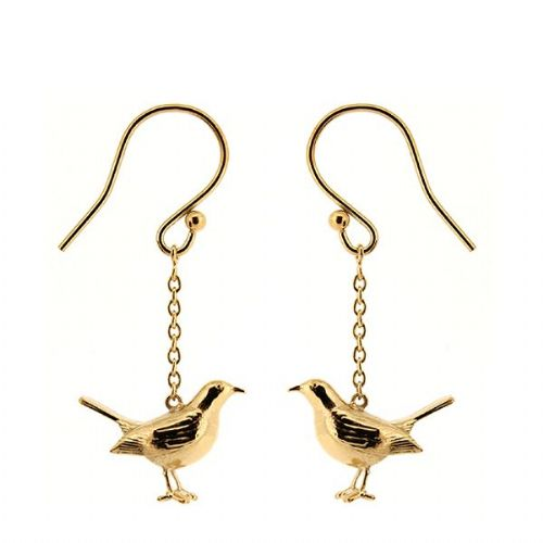 Silver Blackbird Earrings